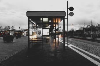 station in black