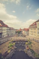 Blick auf die Innenstadt Gothas